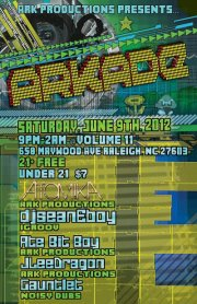 ARKADE Rave flyer