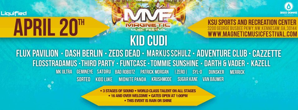 Magnetic Music Festival Lineup flyer