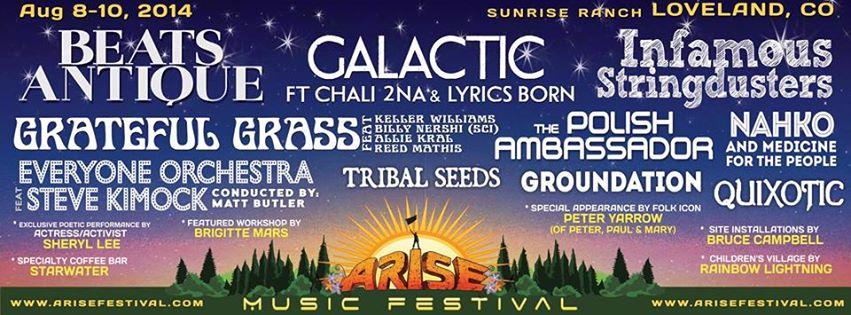 Arise Music Festival 2014 flyer