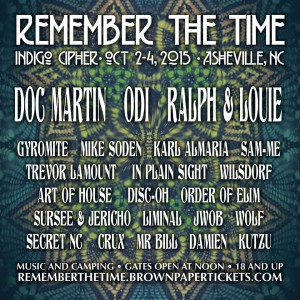 rember the time flyer 300x300 Remember The Time Festival Oct 2 4, 2015 Asheville, NC