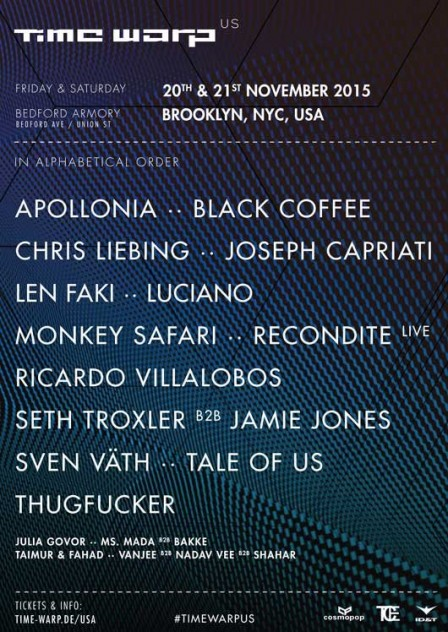 Time Warp US 2015 Lineup